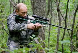 Président russe à la chasse Cc wikimedia